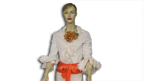 Camisa Flamenca color Beige