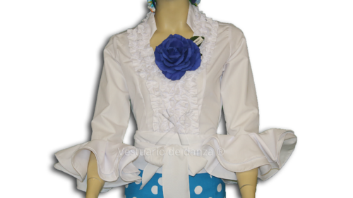 Camisa Flamenca color Blanco