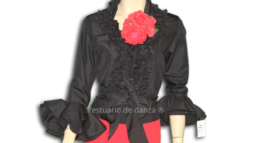 Camisa Flamenca color Negro