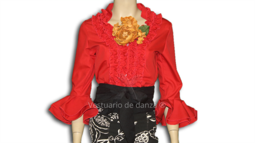 Camisa Flamenca color Rojo