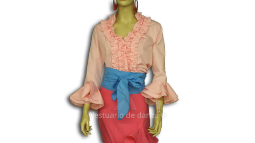 Camisa Flamenca color Rosa